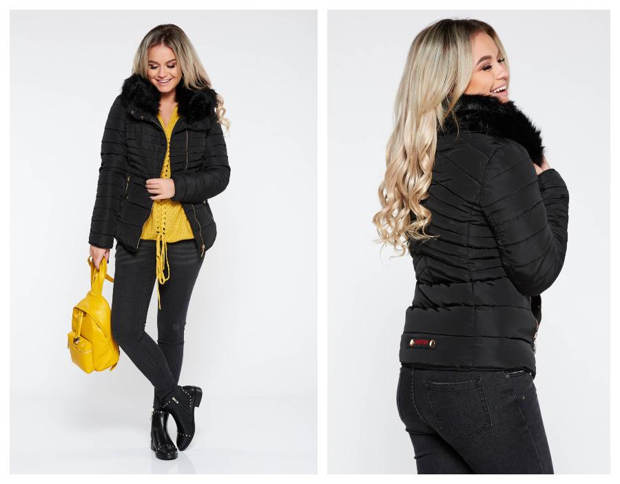 modele-geci-dama-negre-scurte-de-iarna-moderne